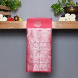Pastel Pink Coloured Kanchipuram Silk Saree
