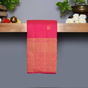 Majanta Pink Coloured Kanchipuram Silk Saree With Golden Zari Pallu