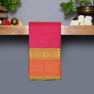 Majantha Pink Coloured Kanchipuram Silk Saree with Green Colour Pallu