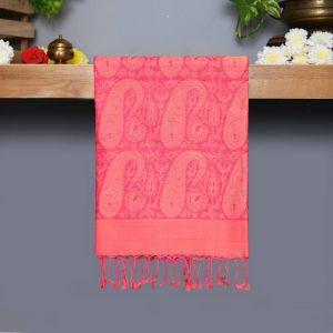 Lotus Pink Coloured Kanchipuram Silk Saree Pink colour thread and gold zari Pallu