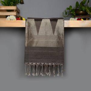Silver Grey Coloured Soft Silk Saree