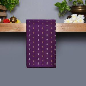 Purple Coloured Kanchipuram Silk Saree With paige Colour Pallu