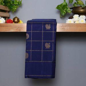 Royal Blue Coloured Kanchipuram Silk  Saree
