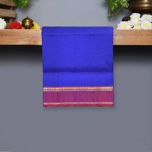 Royal Blue Coloured Kanchipuram Silk Saree With Purple Pallu