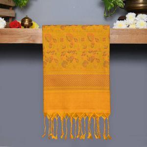 Navy blue Coloured Kanchipuram Silk Saree yellow pallu