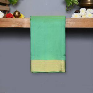 Light Safer Green Coloured Kanchipuram Silk Saree With Golden Zari Pallu