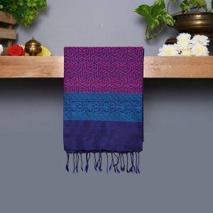 Navy Blue Coloured Kanchipuram Silk Saree With Thread Pallu