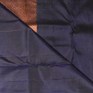 Denim Blue Coloured Kanchipuram Silk Saree With Copper  Zari Pallu