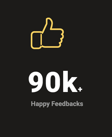 90k happy feedbacks