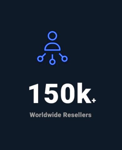 150k worldwide resellers